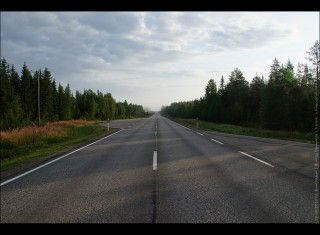 roads in finland | towards rovaniemi from the south-east of finland