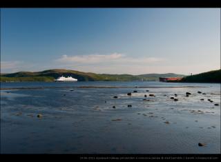 19.06.2011 круизный лайнер prinsendam в кольском заливе