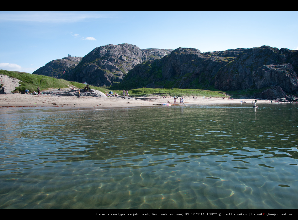 пляж | barents sea (grense jakobselv, finnmark, norway) 09.07.2011 +30°C