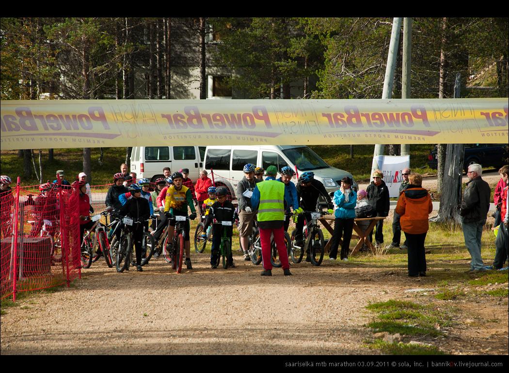 saariselkä MTB marathon 03.09.2011 | категории «любители», «юниоры» и «спорт» готовятся к старту