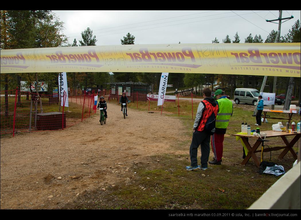 saariselkä MTB marathon 03.09.2011 | финиш юниоров