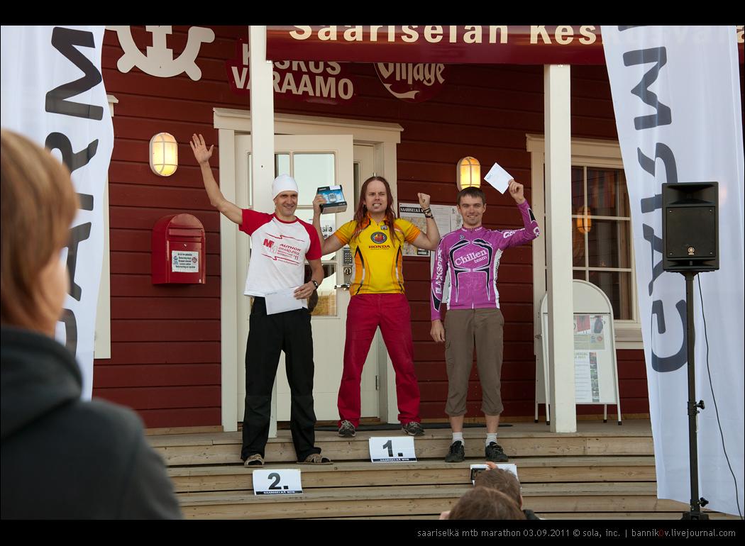saariselkä MTB marathon 03.09.2011 | победители в категории «элита»