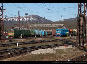 ВЛ80т-821 и ВЛ60пк-1753 на ст. Кандалакша, ОЖД
