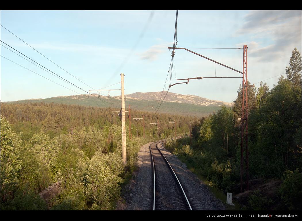 Перегон б/п 1391-й км—Лопарская.