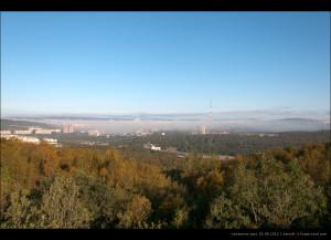 туманное утро 25.08.2012, сверху