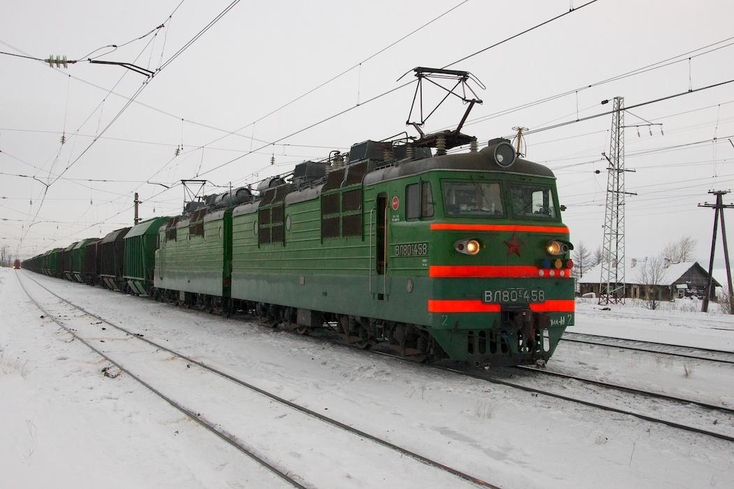 ВЛ80с-458 приписки ТЧ-11 Лоста
