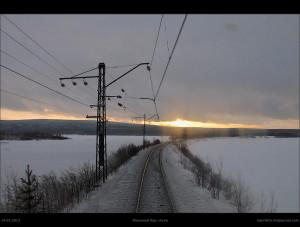 Ягельный бор—Куна зимой