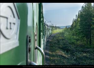 Сплотка из электровозов ВЛ80с-042, ВЛ80с-704, ВЛ80т-856 на перегоне Лапландия—б/п 1340 км ОЖД 10.06.2014