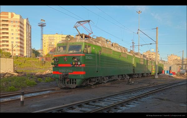 ВЛ80С-2014 на путях ПТОЛ ТЧЭ-28 Мурманск ОЖД