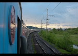 Ст. Пулозеро и поезд 91 сообщением Мурманск—Москва