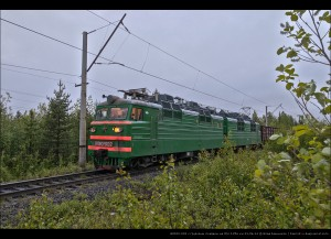 ВЛ80т-902 с грузовым поездом по б/п 1256 км ОЖД 21.06.14
