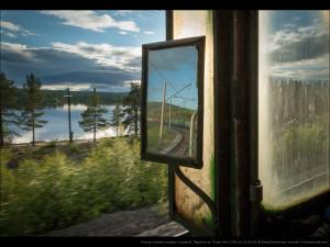 Осмотр состава поезда. Перегон ст. Кица—б/п 1391 км. 21.06.14