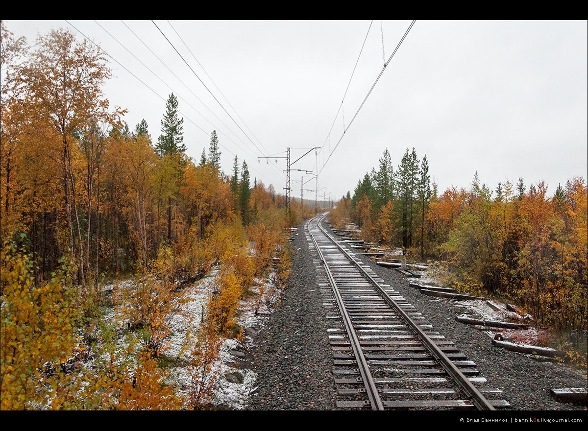 Оленегорск—Мончегорск: первый снег