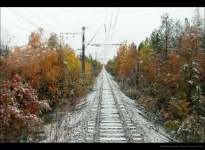 Оленегорск—Мончегорск: первый снег (красота)