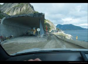 Реконструкция дороги между Рейне и О (строительство галлереи)