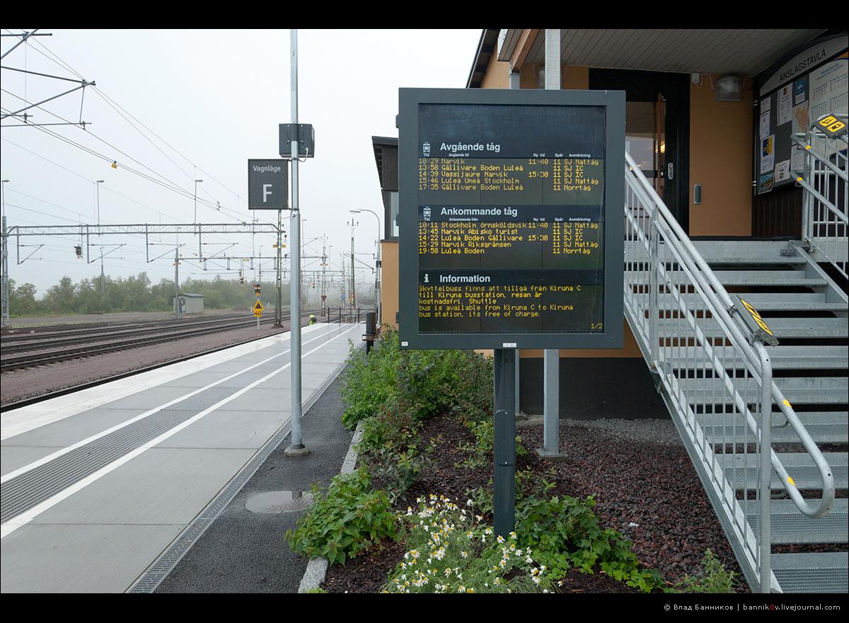 Расписание поездов по Кируне