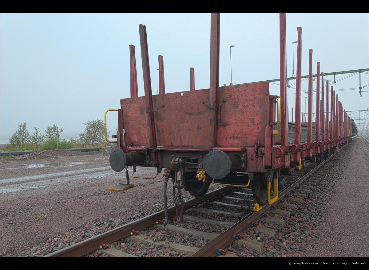 Винтовая сцепка вагона-лесовоза