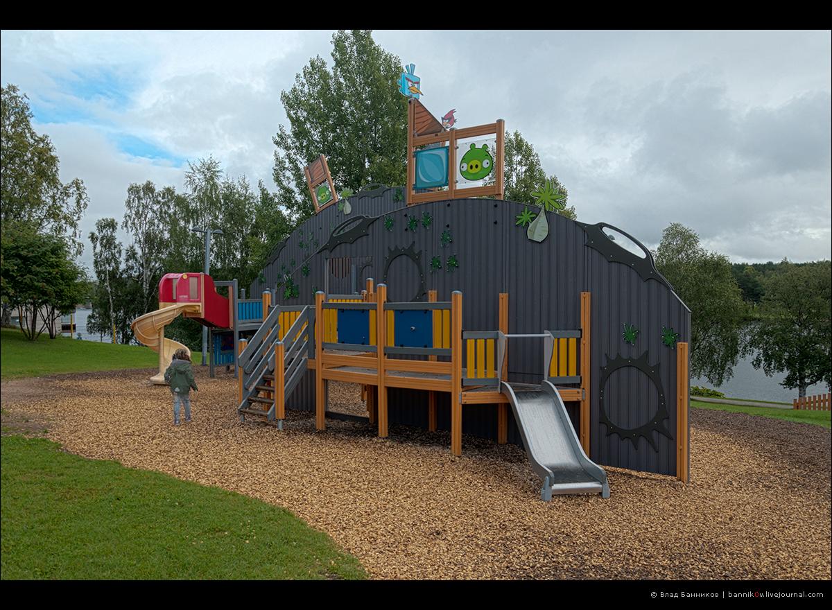 В парке Angry Birds | очередной объект