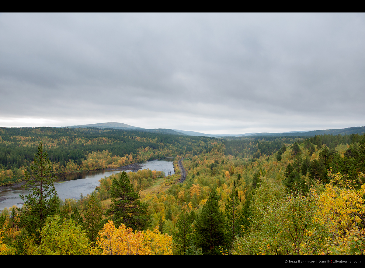 Река Кола. Вид с «обхода».
