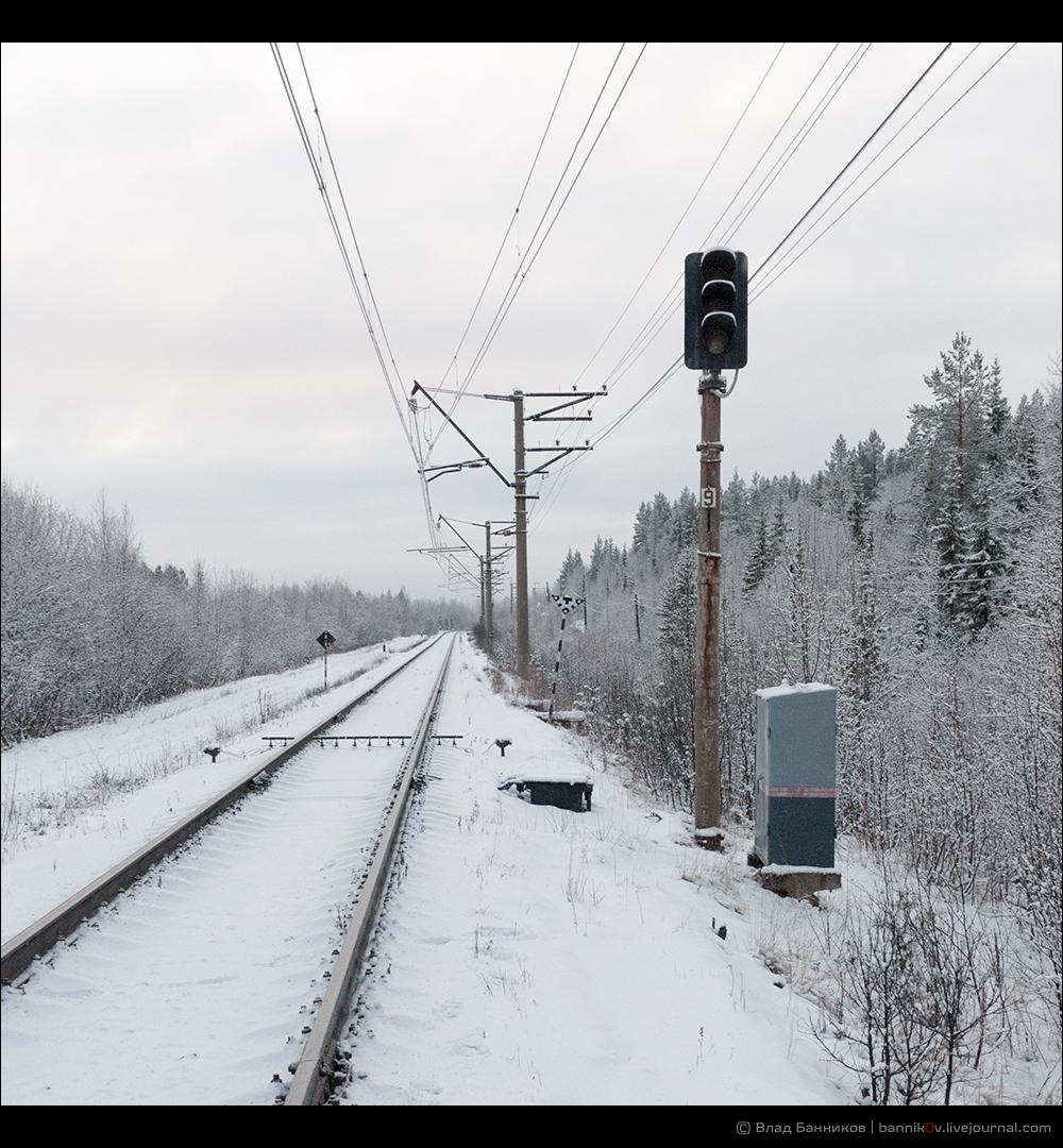 Огни проходного светофора погашены: блокировка развёрнута в противоположном направлении