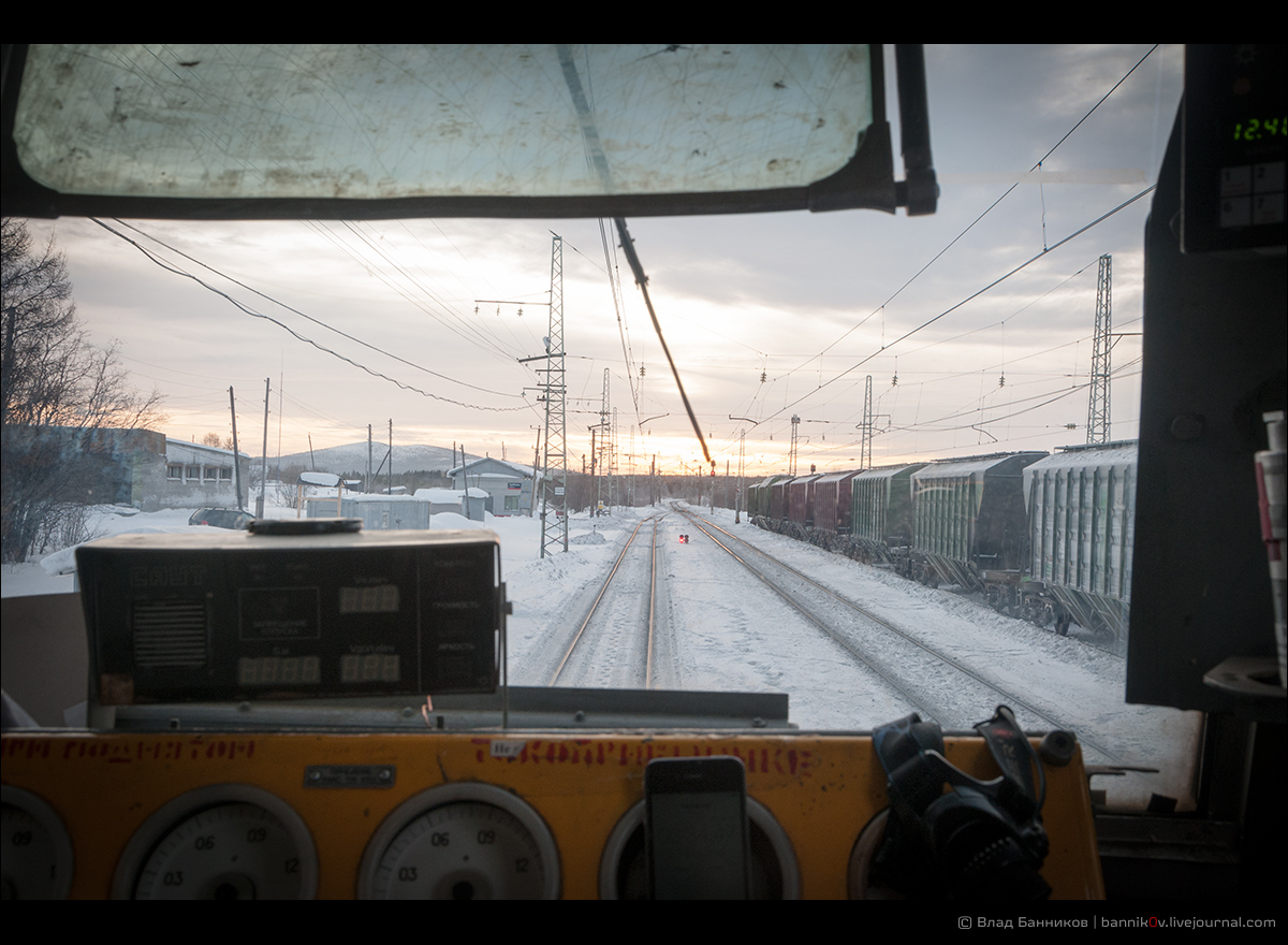 Вид из кабины на Тайболу