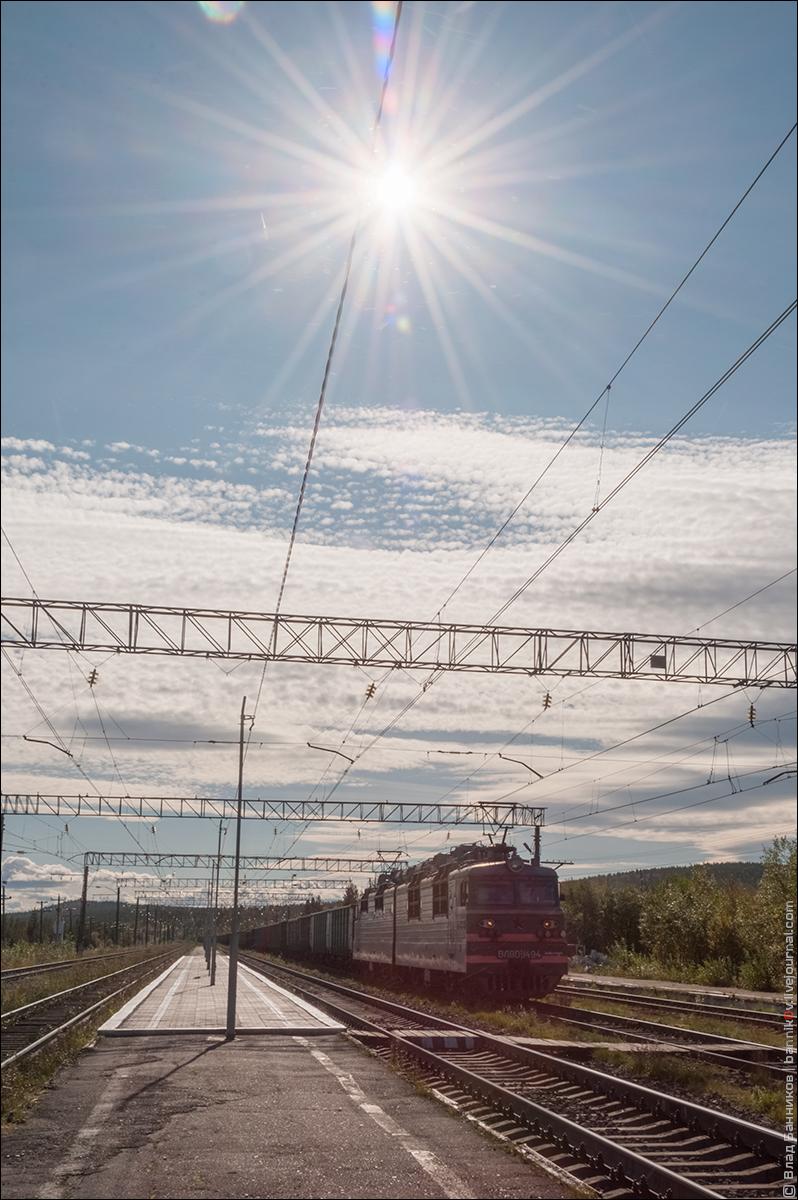 ВЛ80С-1494 с грузовым поездом на 3-м пути ст. Магнетиты СХ ОКТ 28.08.18