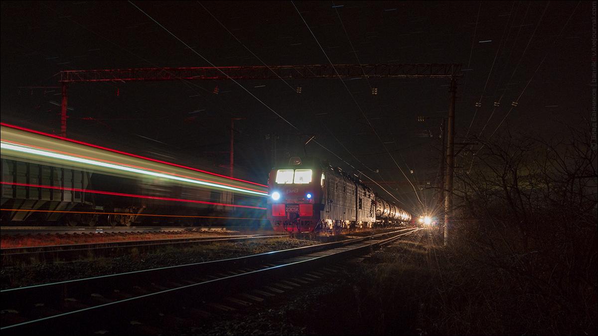 2ЭС5К-324 на 3-м по Тайболе с грузовым