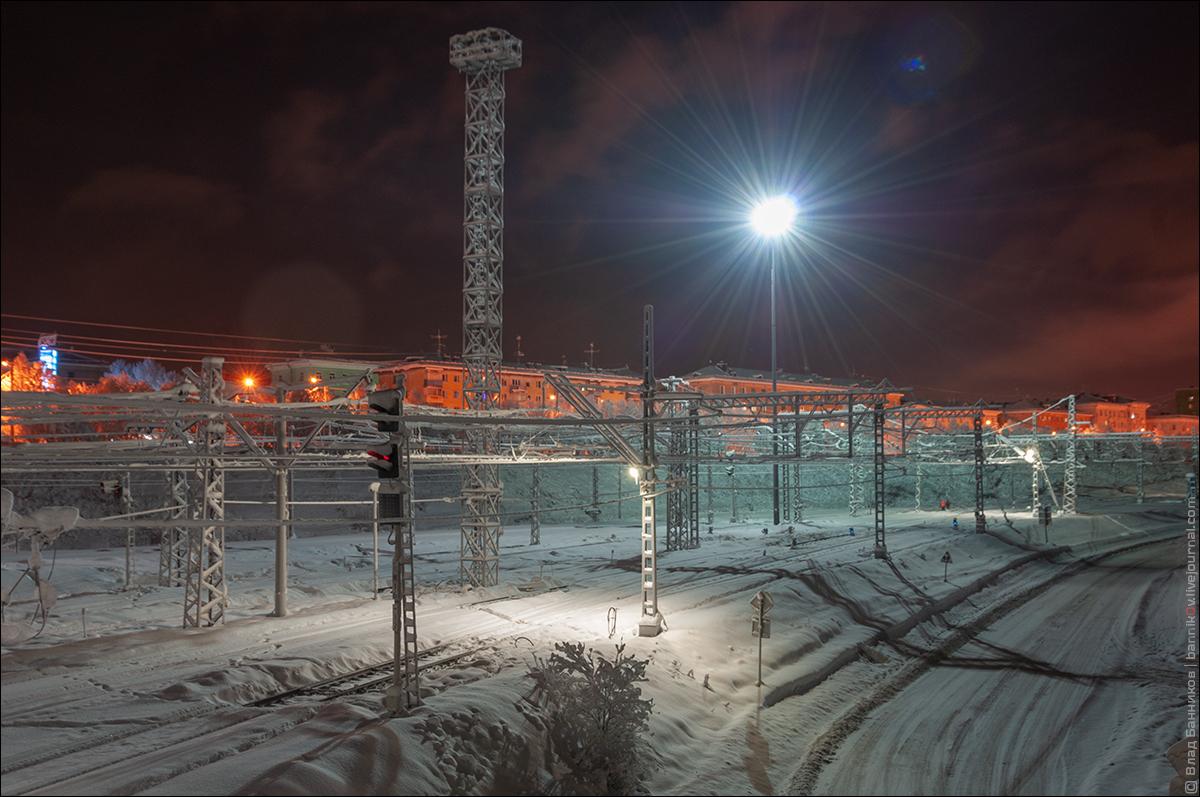 Станция Мурманск в снегах