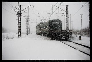 ВЛ60пк-1904 с рабочим поездом на ст. Выходной ОКТ