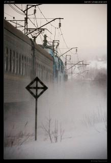 ЭП1М-391 под поездом №22 «Санкт-Петербург—Мурманск» на перегоне ст. Кола—ст.Мурманск