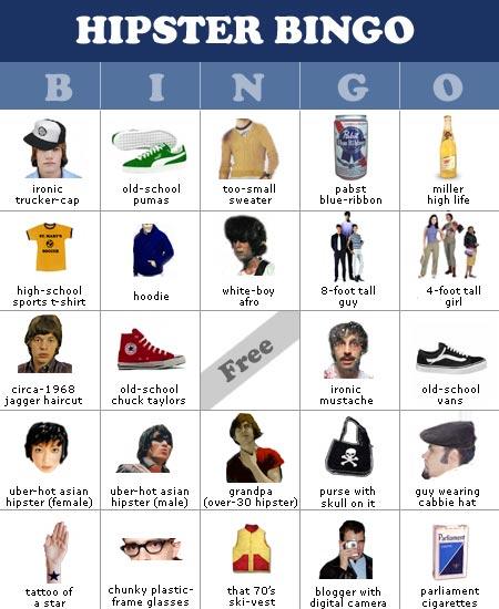 Hipster Bingo!