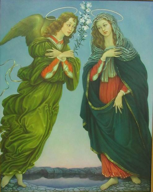 Композиция на тему картин Сандро Боттичелли. (180*120 см). Масло, холст.