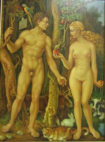 Адам и Ева. (180*120 см) Масло, холст.