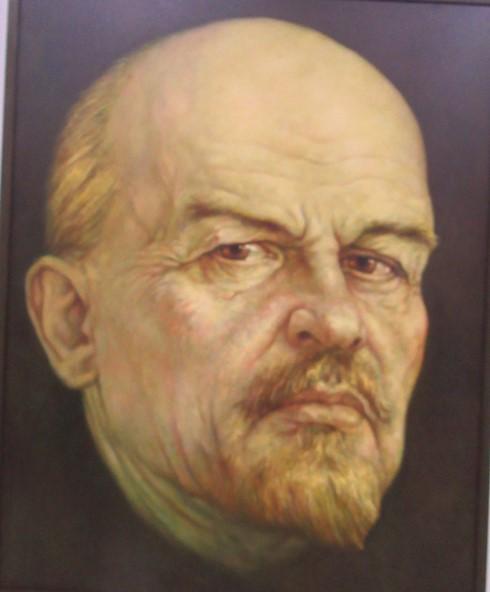 Портрет Ленина. (180*130 см). Масло, холст.