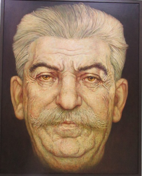 Портрет Сталина. (180*130 см). Масло, холст.