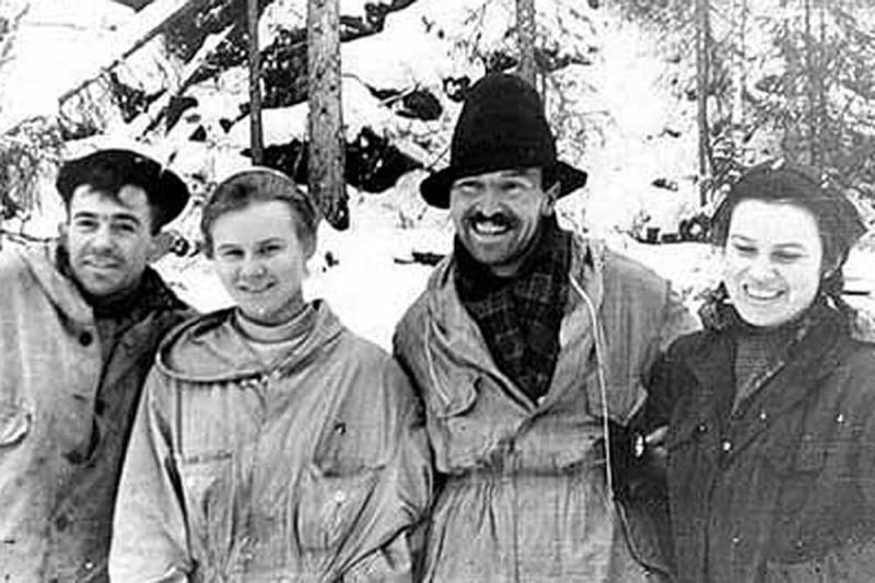 Из архивов. Последние снимки группы Дятлова в походе.