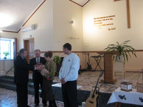Благословение младенца баптисты