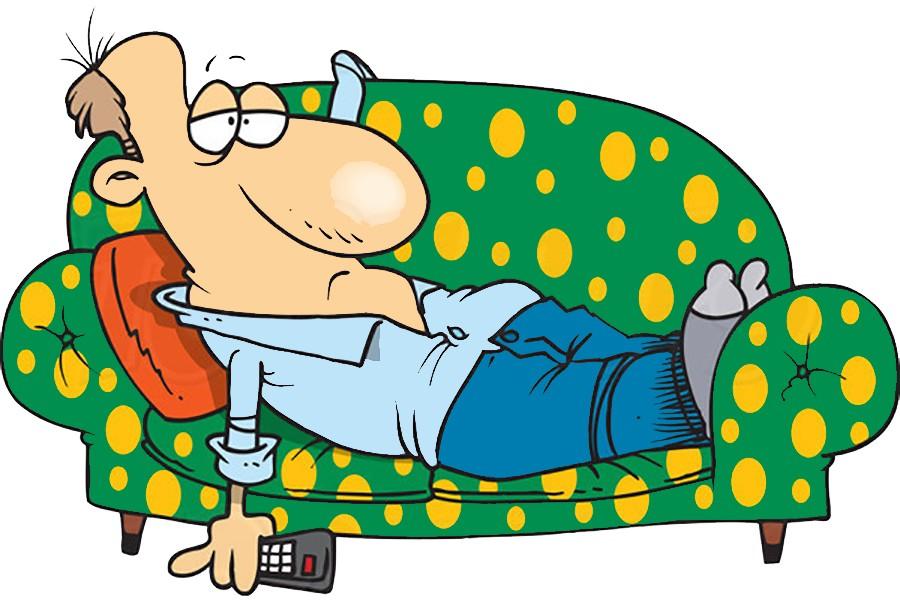 Лежание на диване картинка