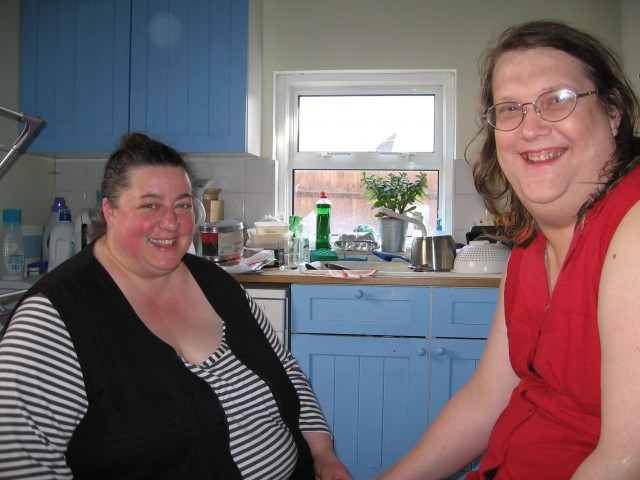Vron & Andi in my kitchen