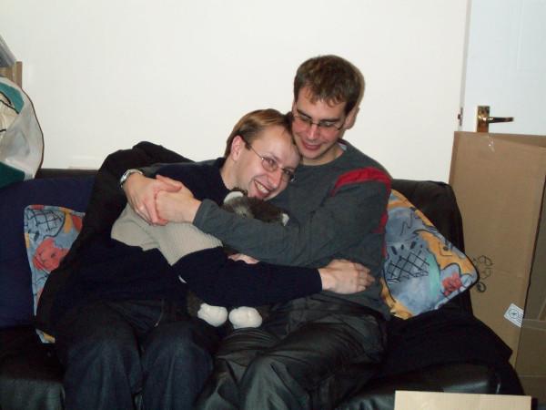 meeping and gerwinium with Paploo the ewok. 2002/12/31