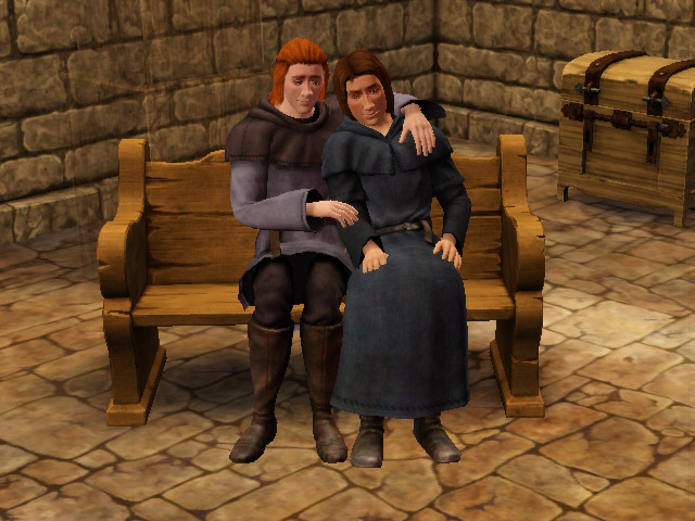 Alix and Martin cuddle