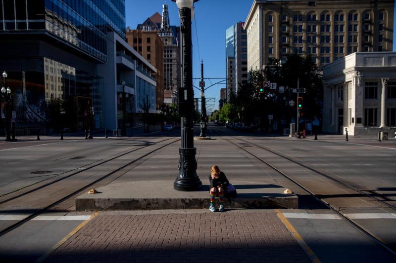 Обычно центр Солт-Лейк-Сити не выглядел бы так в утренний час пик.