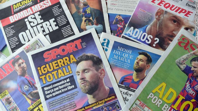 Сегодня утром на первой и последней страницах газеты доминирует только одна история.