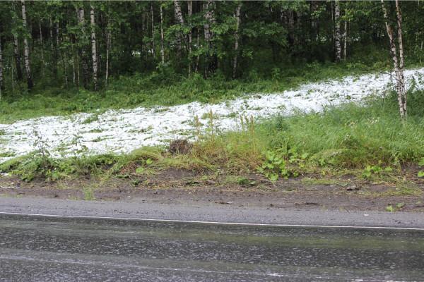 снег в июле