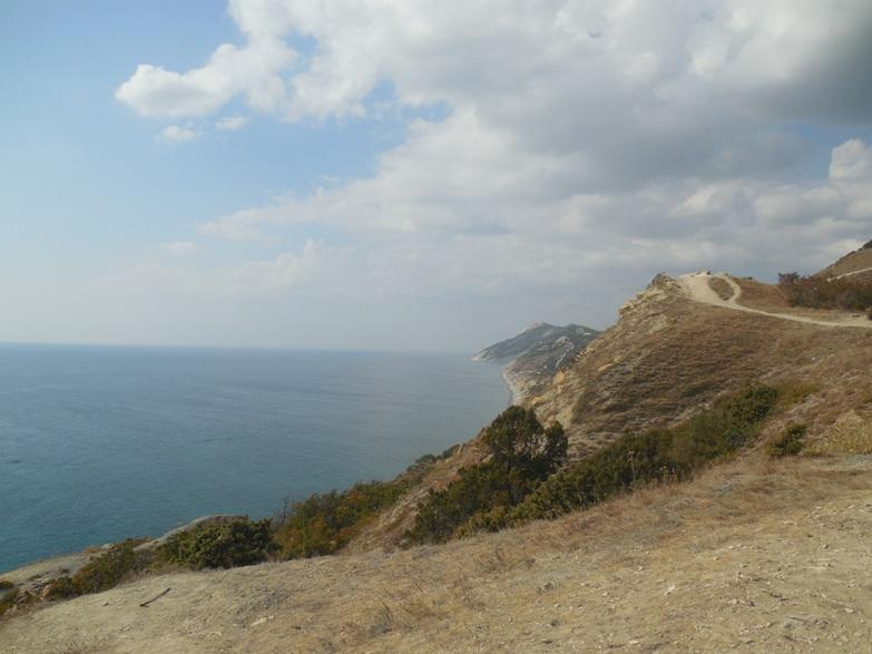 вид побережья между Анапой и Сукко