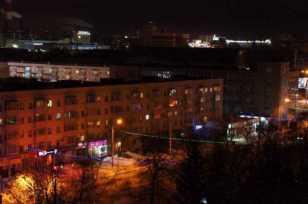 Ночная Уфа