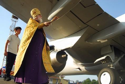 освящение самолета