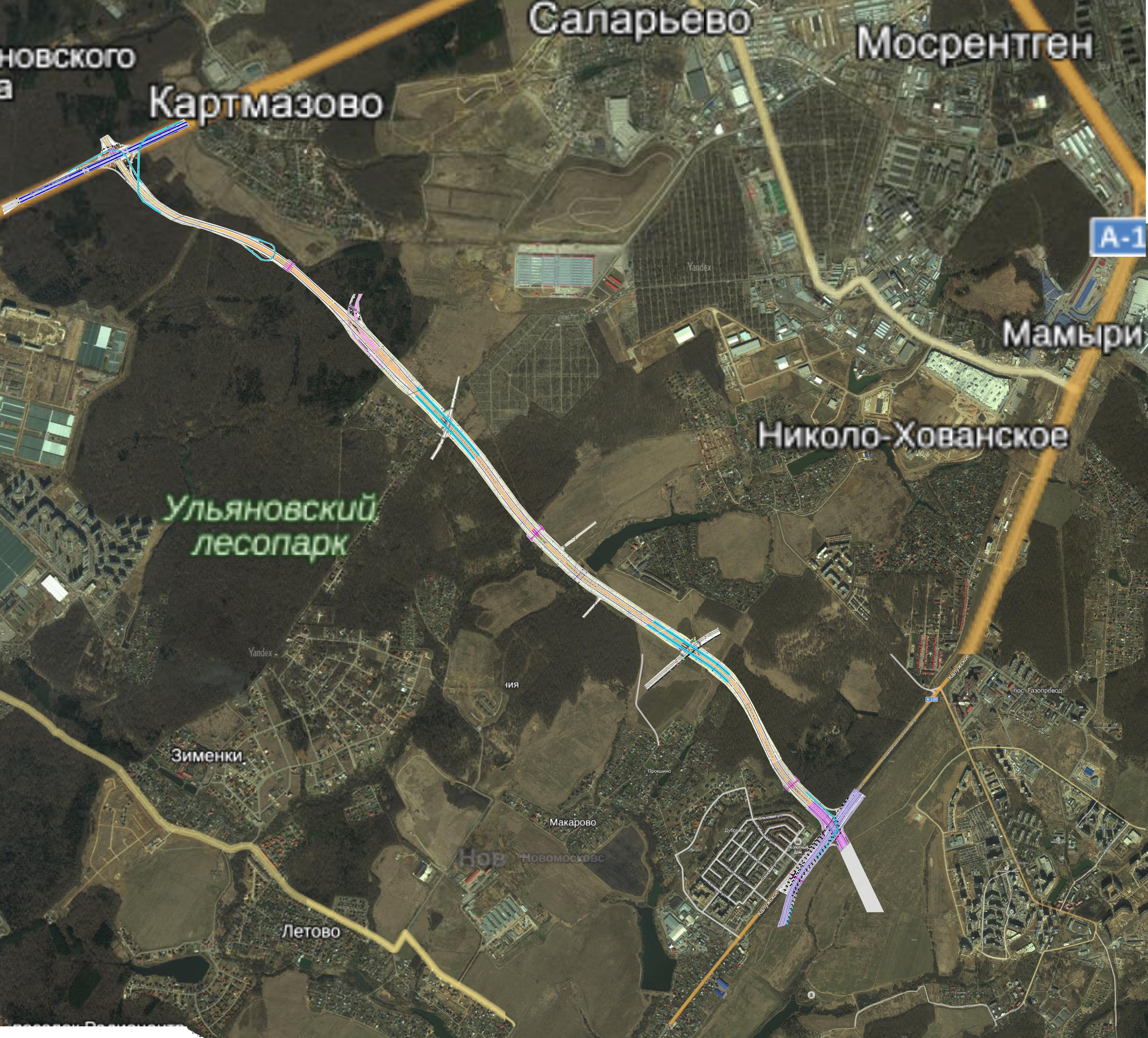 Строительство дороги солнцево бутово видное проект схема фото 296