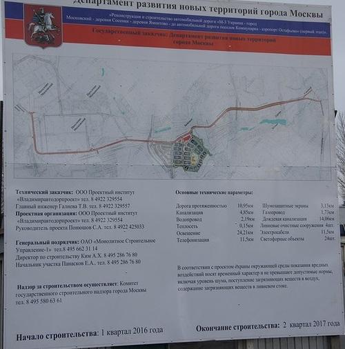 Строительство дороги бутово видное проект схема 3