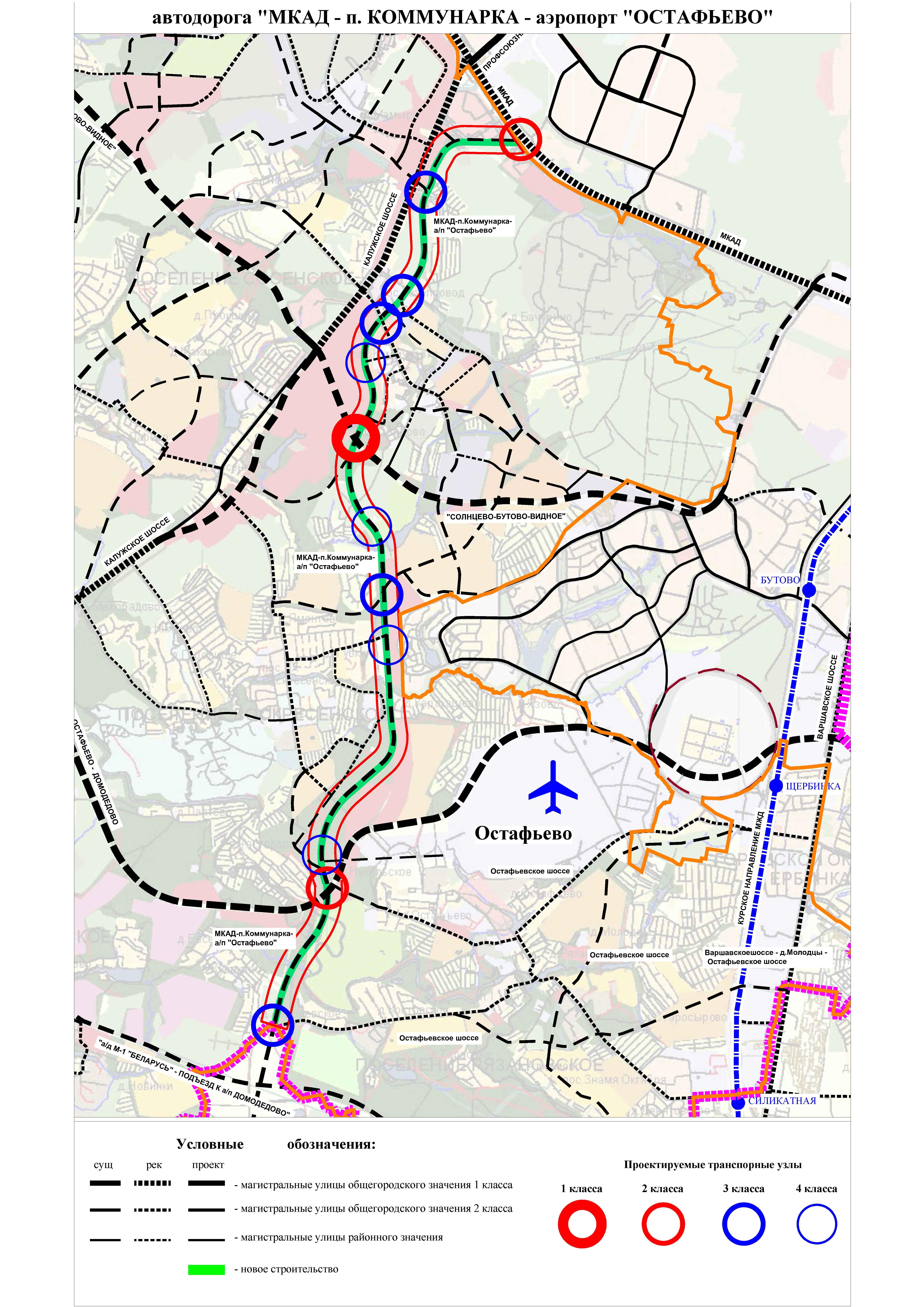 схема мкад с километровыми отметками